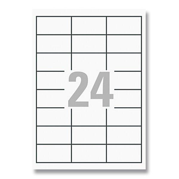 Bílé univerzální etikety Avery Zweckform 64,6 x 33,8 mm, 2400 etiket