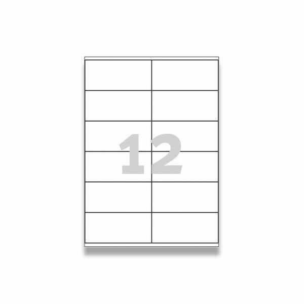 Bílé univerzální etikety Avery Zweckform 97,0 x 42,3 mm, 300 etiket