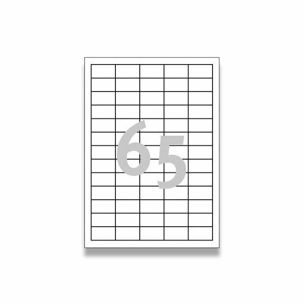 Bílé univerzální etikety Avery Zweckform 38,0 x 21,2 mm, 6500 etiket