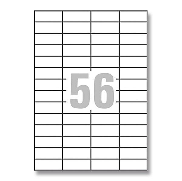 Bílé univerzální etikety Avery Zweckform 52,5 x 21,2 mm, 5600 etiket