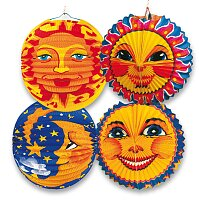 Papírový lampion Sun & Moon