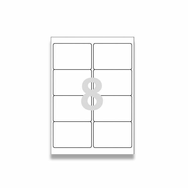 Bílé univerzální etikety Avery Zweckform 97,0 x 67,7 mm, 200 etiket