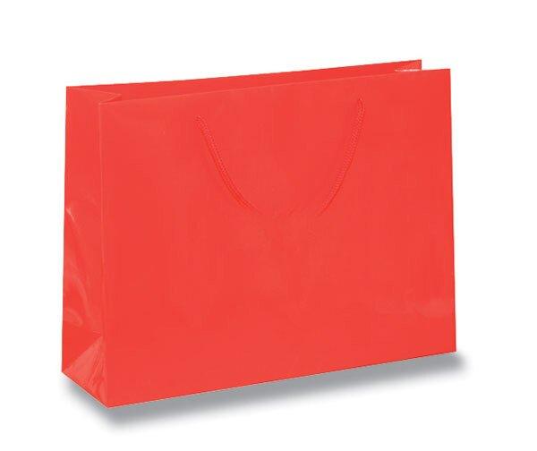 Střední papírová taška Hart s laminem červená