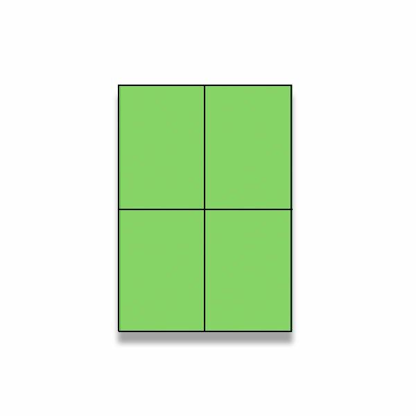 Barevné samolepicí etikety Rayfilm Color zelené
