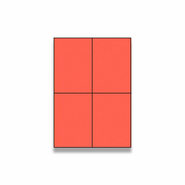 Barevné samolepicí etikety Rayfilm Color červené