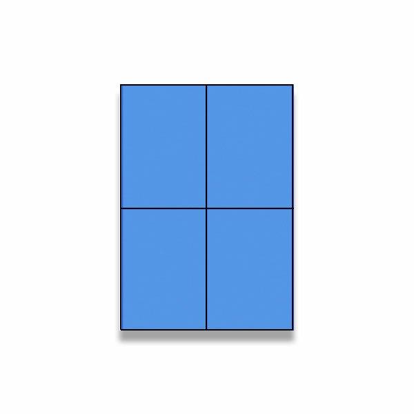 Barevné samolepicí etikety Rayfilm Color modré