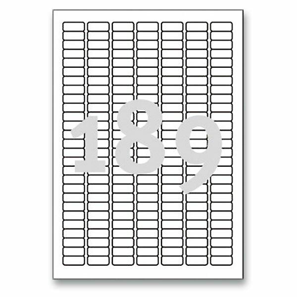 Bílé nepermanentní etikety Avery Zweckform 25,4 x 10,0 mm, 4725 etiket