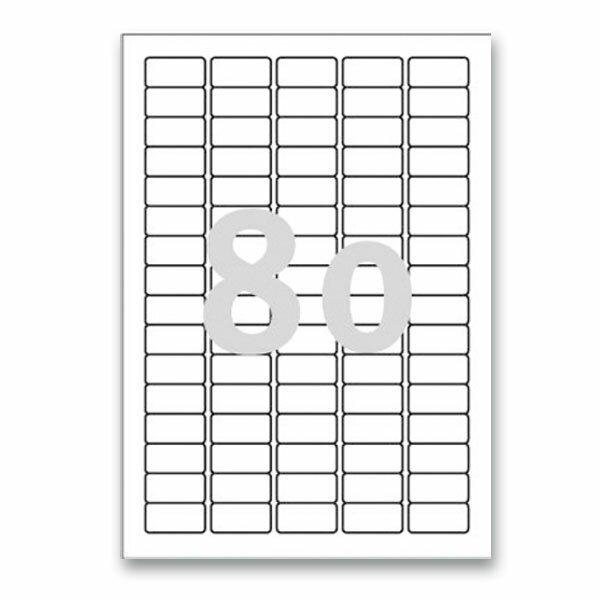 Bílé nepermanentní etikety Avery Zweckform 35,6 x 16,9 mm, 2000 etiket
