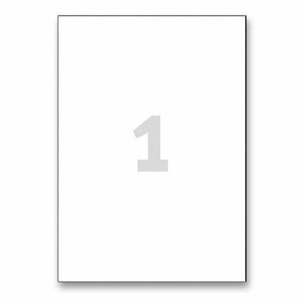 Bílé nepermanentní etikety Avery Zweckform 210,0 x 297,0 mm, 25 etiket