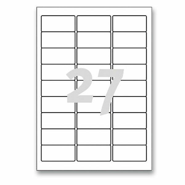 Bílé nepermanentní etikety Avery Zweckform 63,5 x 29,6 mm, 675 etiket