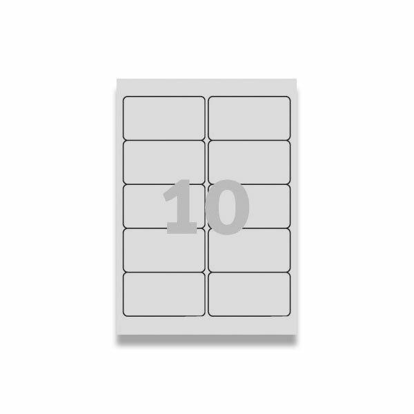 Bílé nepermanentní etikety Avery Zweckform 96,0 x 50,8 mm, 250 etiket