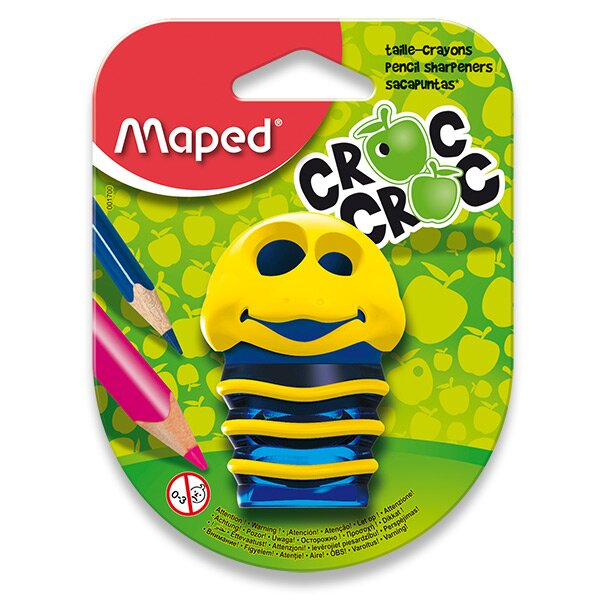 Ořezávátko Maped Croc Croc - s odpadní nádobou 2 otvory, mix barev