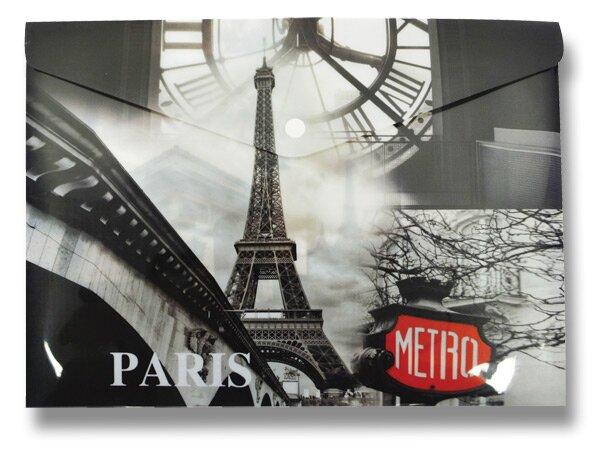 Spisové desky Design s drukem Paříž