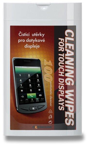 Vlhké čisticí utěrky na obrazovky Clenium Cleaning Wipes 100 ks