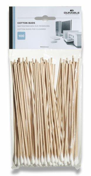 Vatové tyčinky Durable Cotton Buds 100 ks
