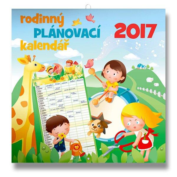 Rodinný plánovací kalendář 2017 nástěnný kalendář