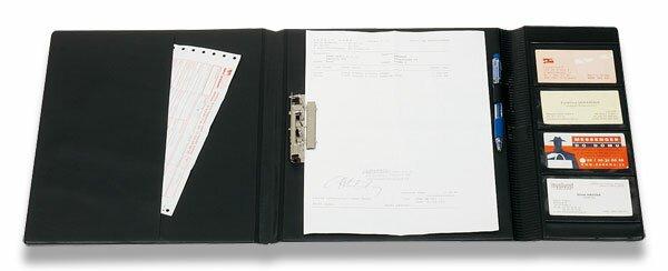 Uzavíratelné složky pro řidiče PP Karton A5, černé
