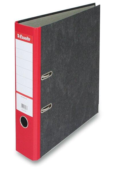 Pákový pořadač Esselte Mramor A4, 70 mm, červený