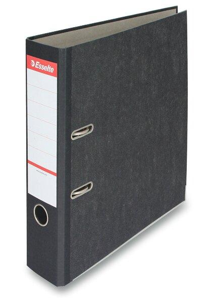 Pákový pořadač Esselte Mramor A4, 70 mm, černý