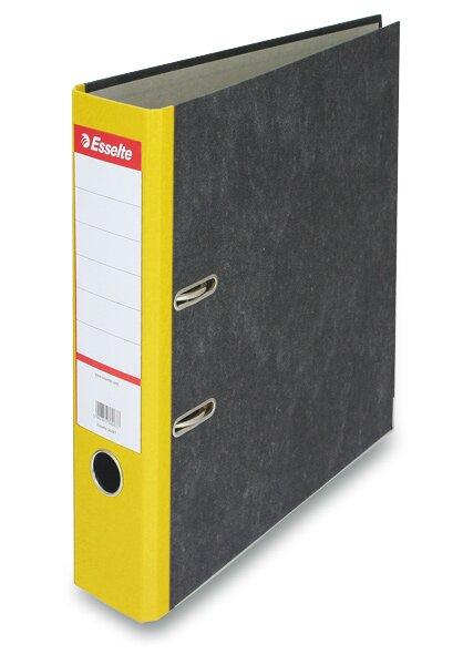 Pákový pořadač Esselte Mramor A4, 70 mm, žlutý