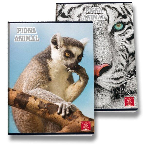 Školní sešit Pigna Animal A4, linkovaný, 40 listů, mix motivů