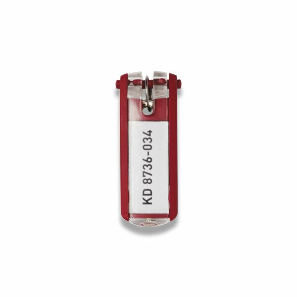 Jmenovka na klíče Durable Key Clip červená, 6 ks