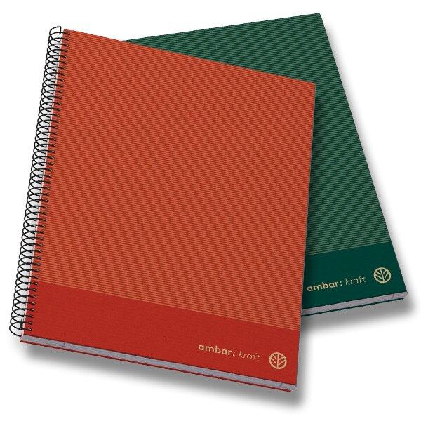 Kroužkový blok Ambar Kraft - mix barev A4, linkovaný, 150 listů