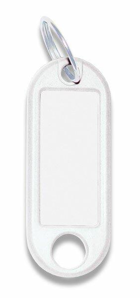 Jmenovka na klíče ConmetRON bílé, 10 ks