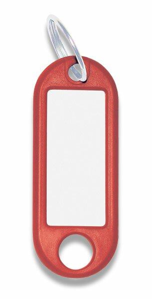 Jmenovka na klíče ConmetRON červené, 10 ks