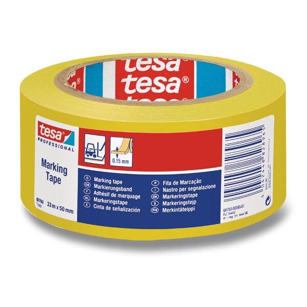 Značkovací samolepící páska Tesa Tape žlutá