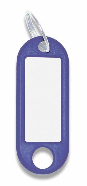 Jmenovka na klíče ConmetRON modré, 10 ks