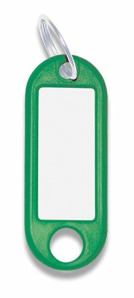 Jmenovka na klíče ConmetRON zelené, 10 ks