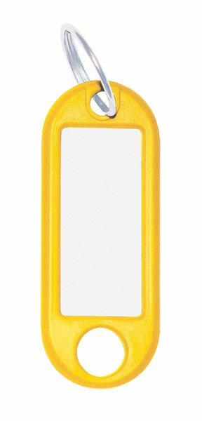 Jmenovka na klíče ConmetRON žluté, 10 ks