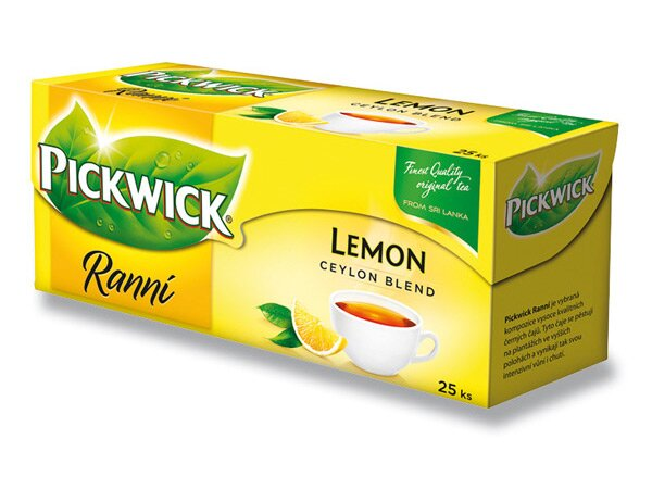 Černý čaj Pickwick Ranní s citronem 25 sáčků