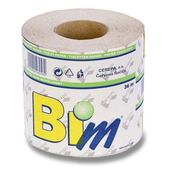 Toaletní papír obyčejný 1 - vrstvý, 400 útržků, návin 36 m, 4 ks