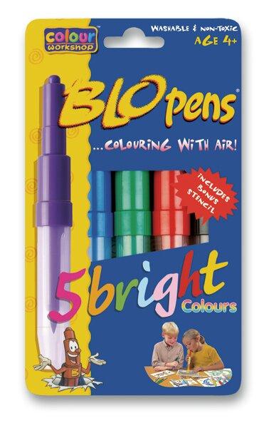 Foukací fixy Centropen Bright colours 5 barev + 1 černý fix