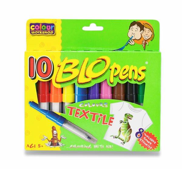 Foukací fixy Centropen na textil 10 barev