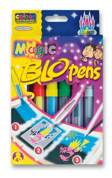 Foukací fixy Centropen Magic 4 barvy + 2 zmizíky
