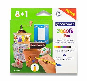 Obrázek produktu Popisovače Centropen 2738 Decor Pen - 8 + 1 barev