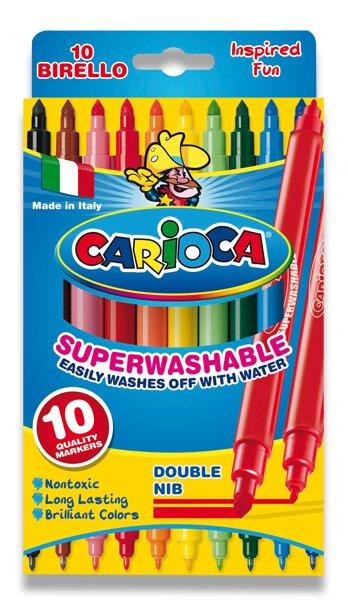 Dětské fixy Carioca Birello 10 barev