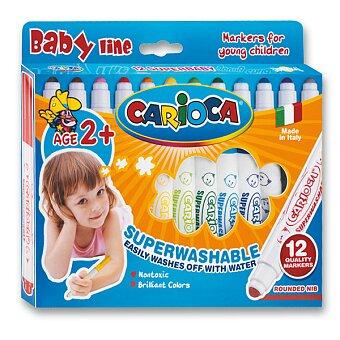 Obrázek produktu Dětské fixy Carioca Super Baby - 12 barev
