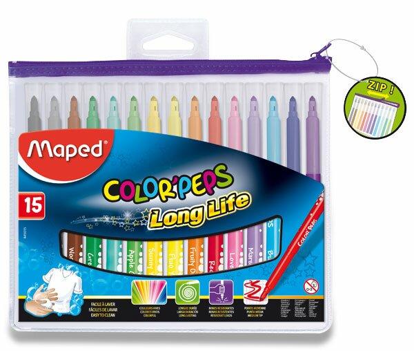 Dětské fixy Maped Color'Peps Long Life 15 barev