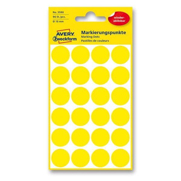 Kulaté etikety Avery Zweckform žluté