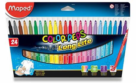 Obrázek produktu Dětské fixy Maped Color'Peps Long Life - 24 barev