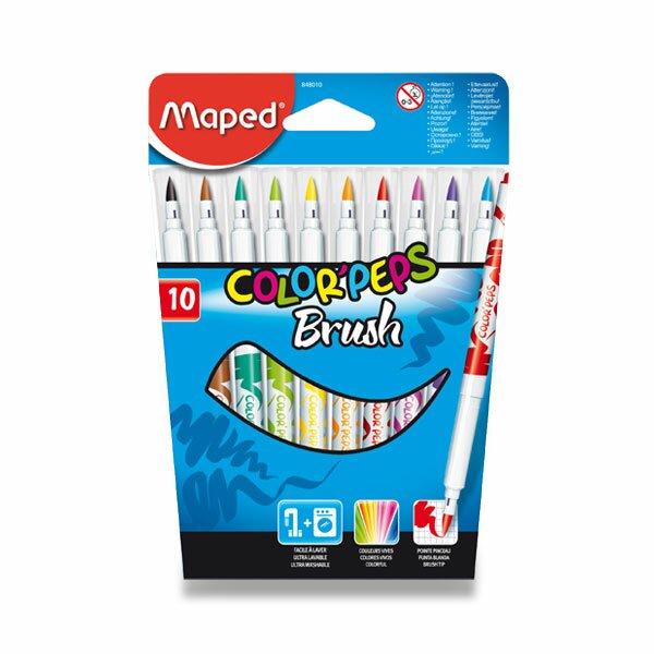 Dětské fixy Maped Color'Peps Brush 10 barev
