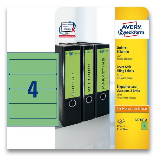 Samolepící štítky na pořadače Avery Zweckform zelené
