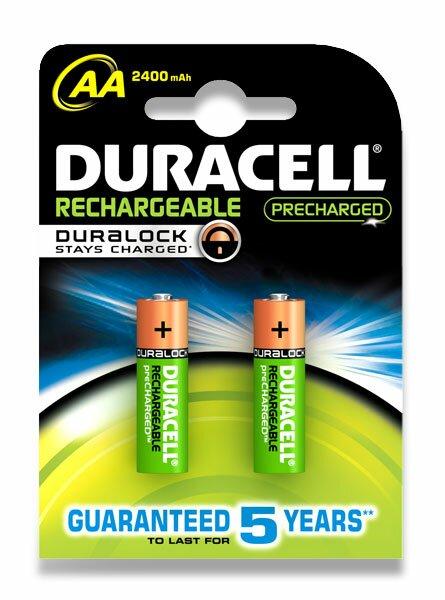Dobíjecí baterie Duracell Stay Charged AA, 2400 mAh, 2 ks