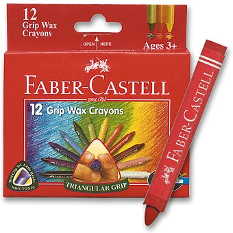 Obrázek produktu Voskovky Faber-Castell Wax Triangular Crayons - 12 barev