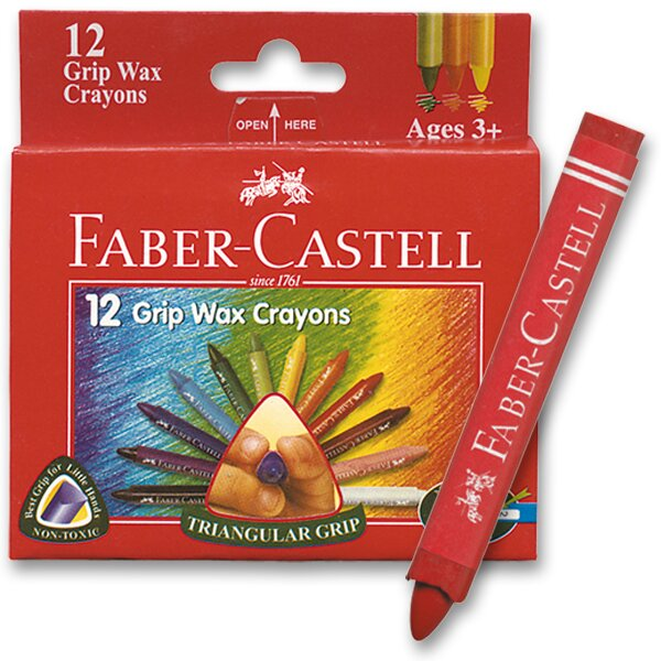 Voskovky Faber-Castell Wax Triangular Crayons 12 barev