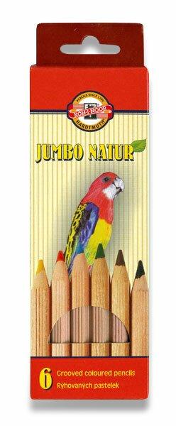 Pastelky Koh-i-noor 2171 Jumbo Natur 6 barev